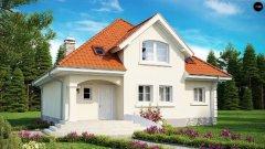Дом в п. Малиновка по проекту Z18+гараж